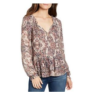 William Rast boho chic paisley top size Medium